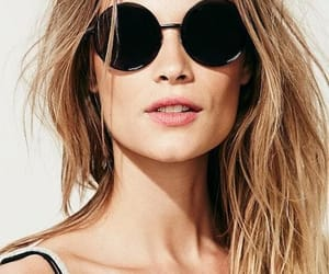 fashion, sunglasses, and round sunglasses image