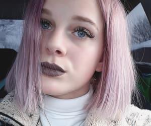 girl, lilac, and makeup image