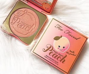 too faced, makeup, and peach image
