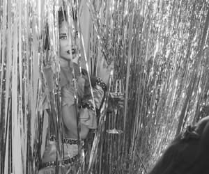 beautiful, black and white, and curtain image
