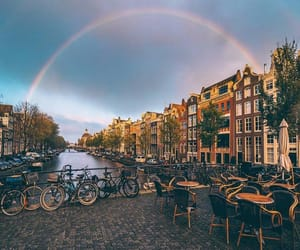 rainbow and travel image