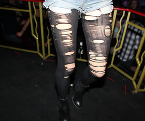 fashion, ripped, and leggings image