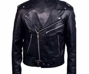 biker jacket, black jacket, and ebay image
