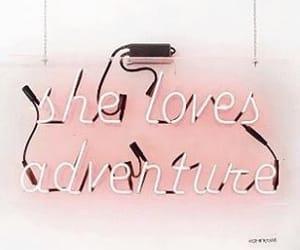 adventure, neon, and love image