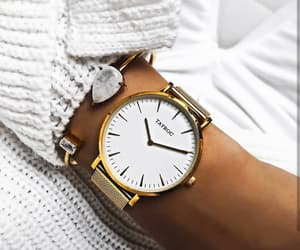 watch, white, and fashion image