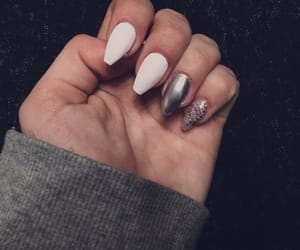beautiful, nail, and white image