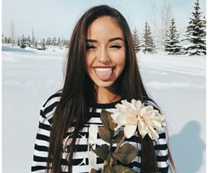 thalia bree, flower, and snow image