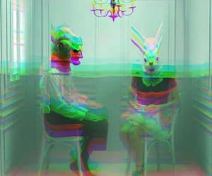 animals, creepy, and glitch image