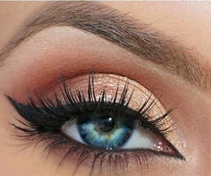 eye shadow, eyeliner, and makeup image