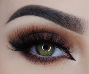 eye shadow, eyes, and eyeliner image