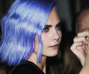 actress, blue hair, and model image