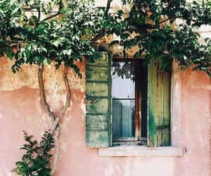 green, house, and window image