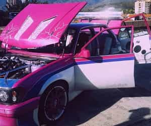 car, goals, and pink image