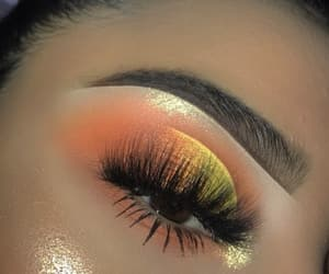 colorfull, makeup, and orange image