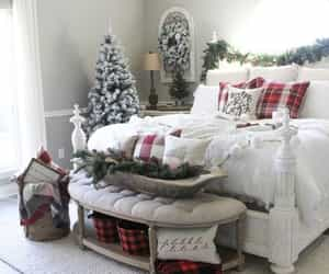 bedroom and christmas decor image