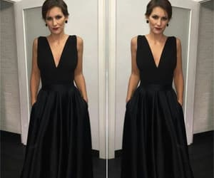black dress and prom dress image