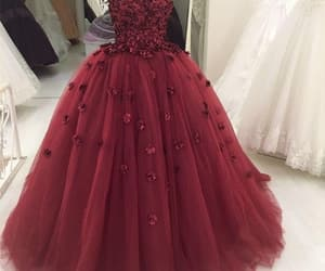 ball gown, ball gown prom dress, and prom dress image