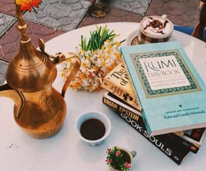 beauty, book, and cafe image