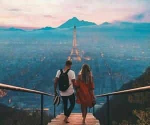couple, love, and paris image