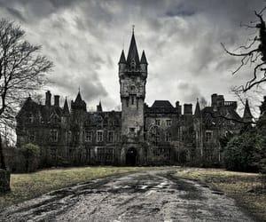 castle, dark, and belgium image