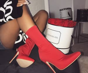 boots, box, and girl image