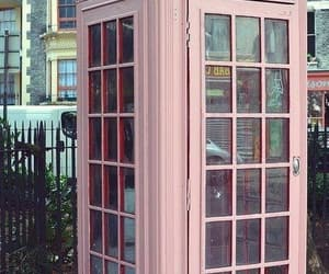 payphone, street, and pink image