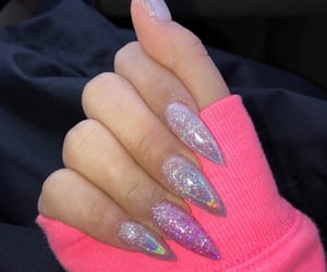 nails, glitter, and acrylics image