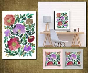 digital print, florals, and painting image
