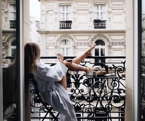 girl, morning, and paris image