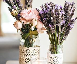 flowers, lavender, and roses image