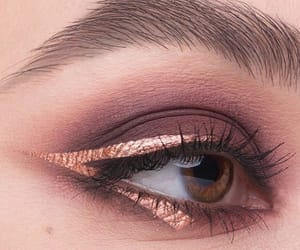 beauty, brown eyes, and cosmetics image
