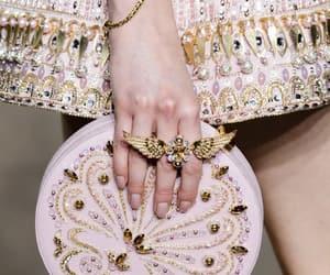 bag, dress, and model image