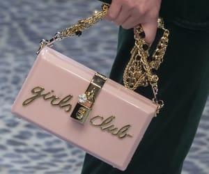 bag, girl, and pink image