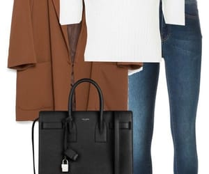 brown, looks, and chic image