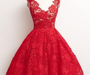 red lace dress image