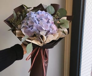 black, bouquet, and lilac image