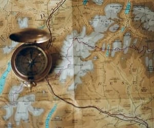 adventure, map, and aesthetic image