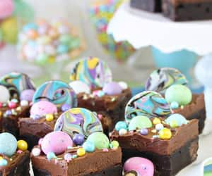 dessert, food, and brownies image