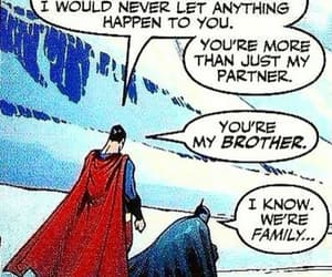 bromance, batman and superman, and brothers image