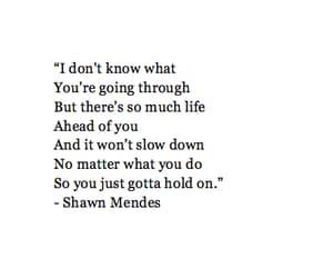 hold on, life, and Lyrics image