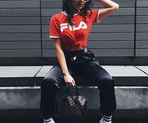 clothes, fashion, and Fila image