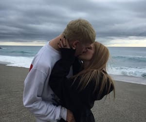 blonde hair, couple, and tumblr image