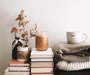 books, coffee, and love image