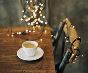 beautiful, christmas lights, and coffee image