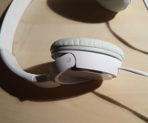 headphones, white, and music image