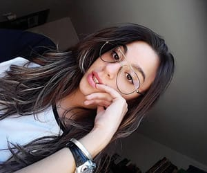 eyes, girl, and glasses image