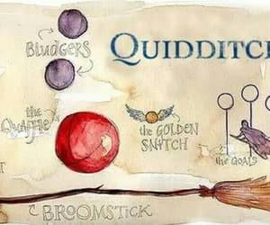 bat, broomstick, and harry potter image