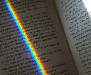 books, rainbow, and reading image