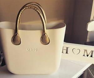 bag, gold, and fashion image