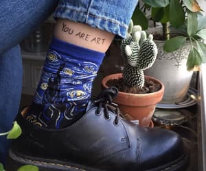 art, shoes, and drawing image